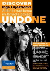 Undone poster, SCU, Lismore, Australia